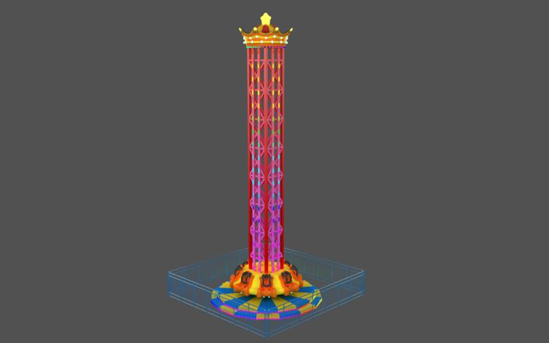 室内旋转塔